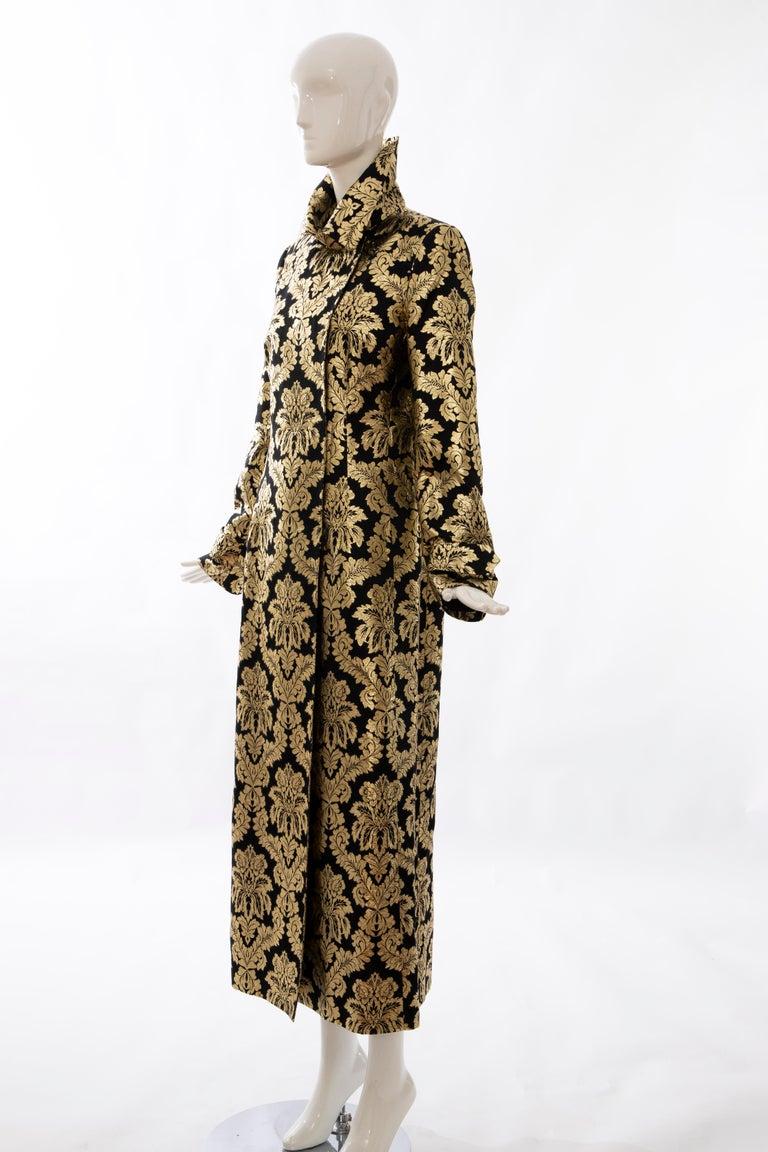 Dolce & Gabbana Runway Black Silk Gold Floral Brocade Evening Jacket, Fall 2000 6