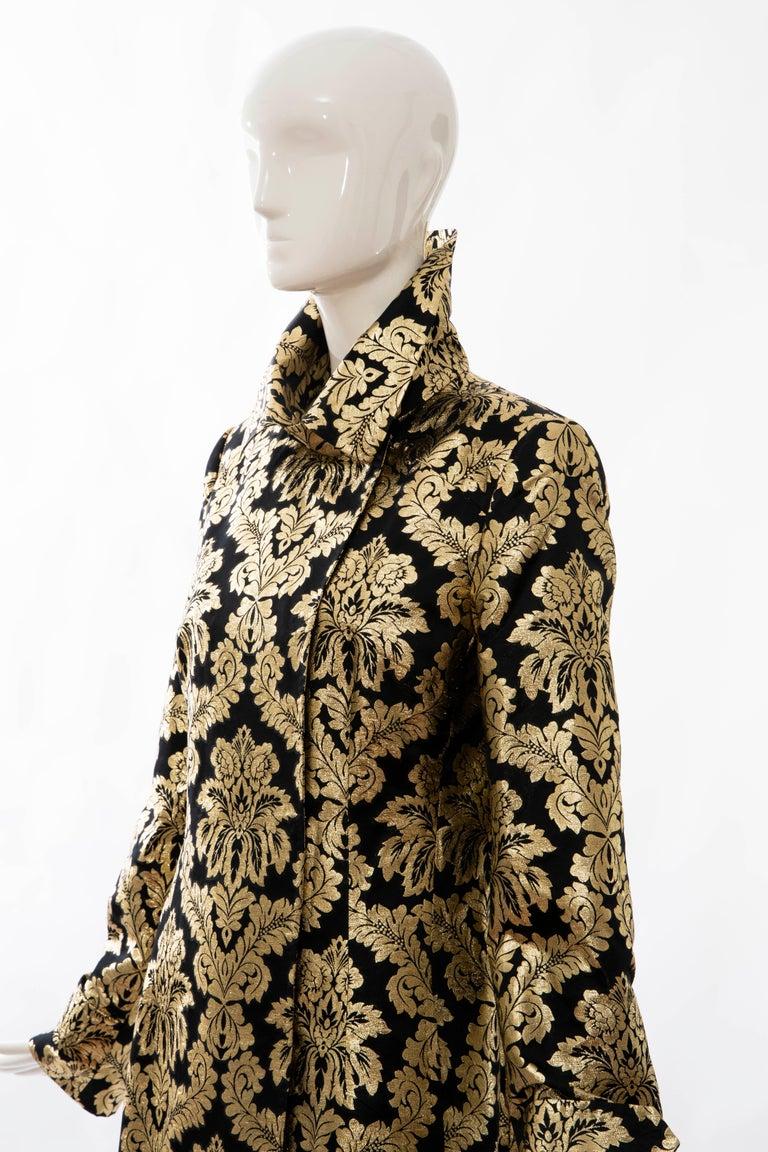 Dolce & Gabbana Runway Black Silk Gold Floral Brocade Evening Jacket, Fall 2000 7
