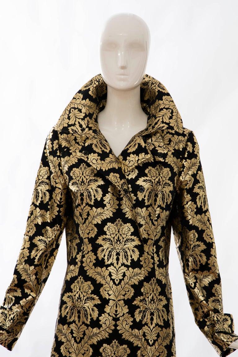 Dolce & Gabbana Runway Black Silk Gold Floral Brocade Evening Jacket, Fall 2000 8