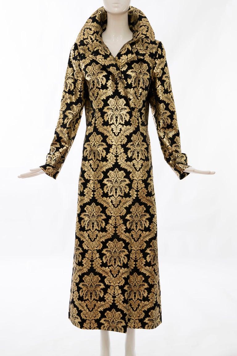 Dolce & Gabbana Runway Black Silk Gold Floral Brocade Evening Jacket, Fall 2000 9