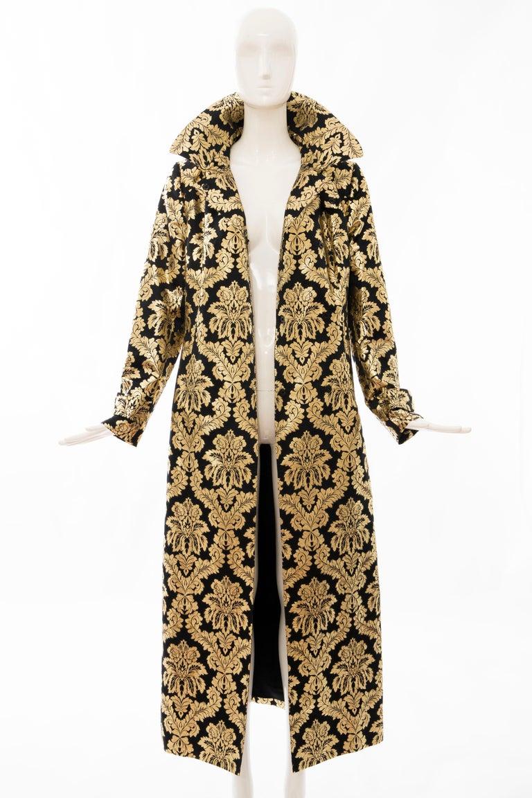 Dolce & Gabbana Runway Black Silk Gold Floral Brocade Evening Jacket, Fall 2000 11