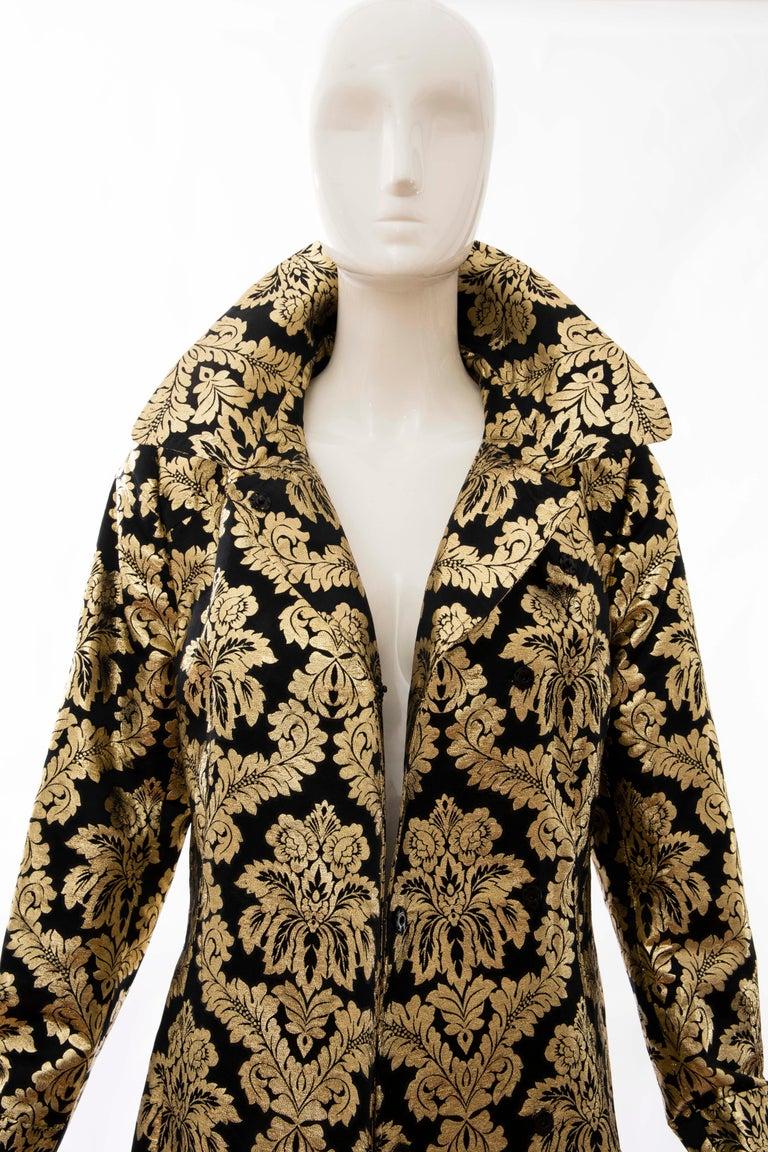 Dolce & Gabbana Runway Black Silk Gold Floral Brocade Evening Jacket, Fall 2000 12