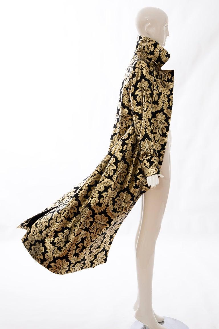 Dolce & Gabbana Runway Black Silk Gold Floral Brocade Evening Jacket, Fall 2000 13