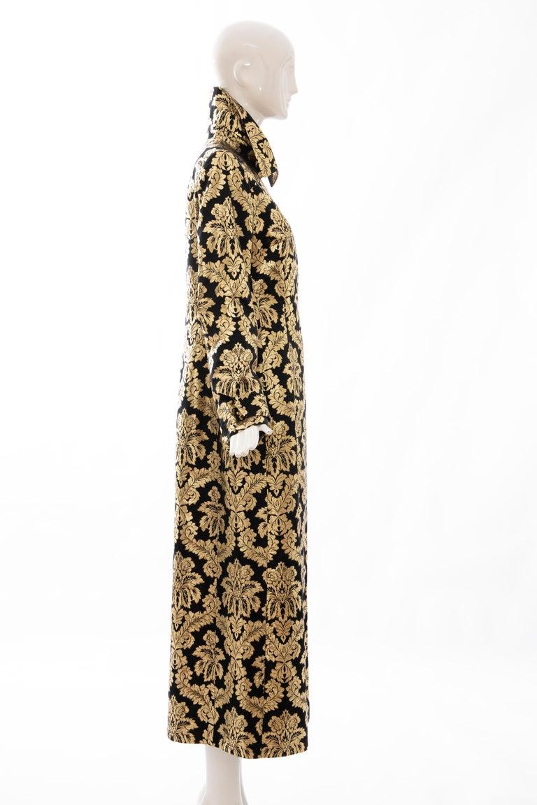 Women's Dolce & Gabbana Runway Black Silk Gold Floral Brocade Evening Jacket, Fall 2000