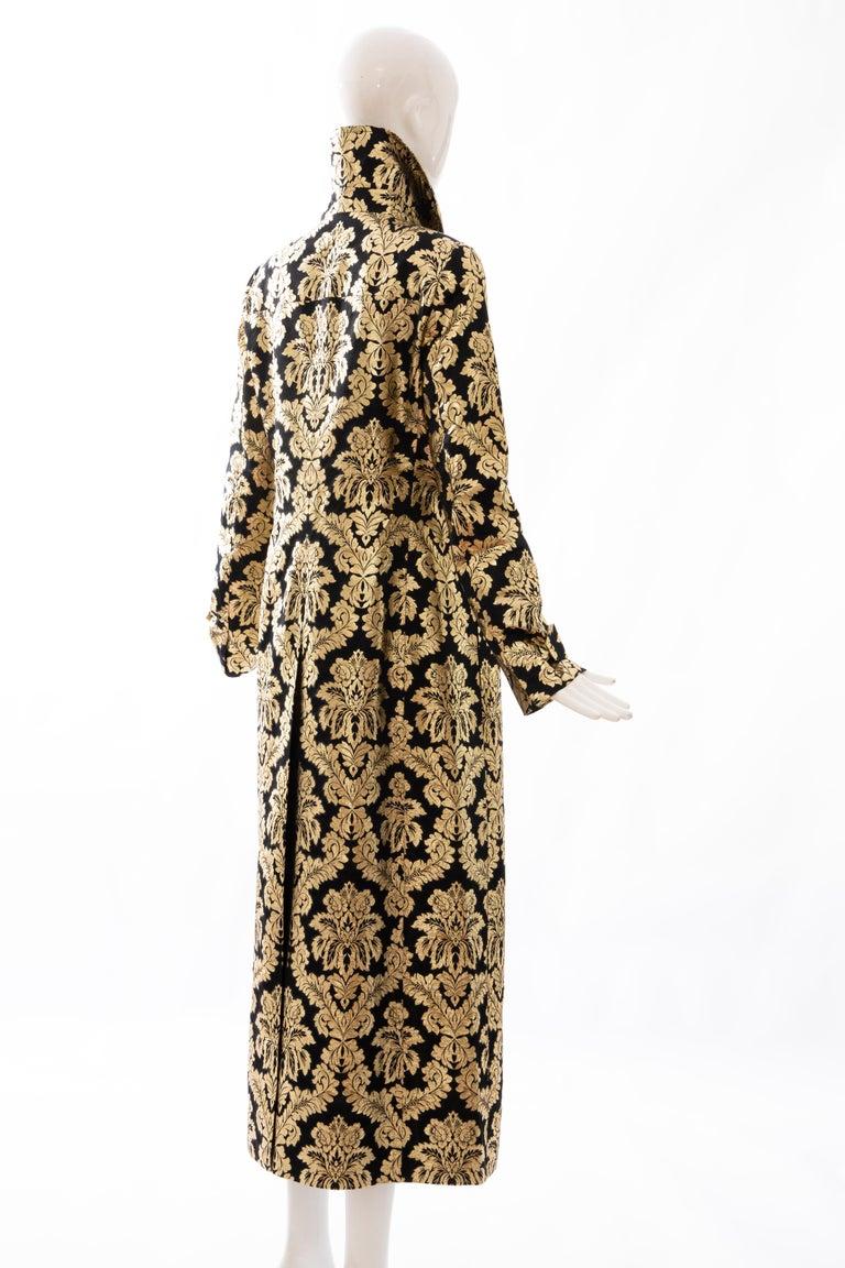 Dolce & Gabbana Runway Black Silk Gold Floral Brocade Evening Jacket, Fall 2000 1