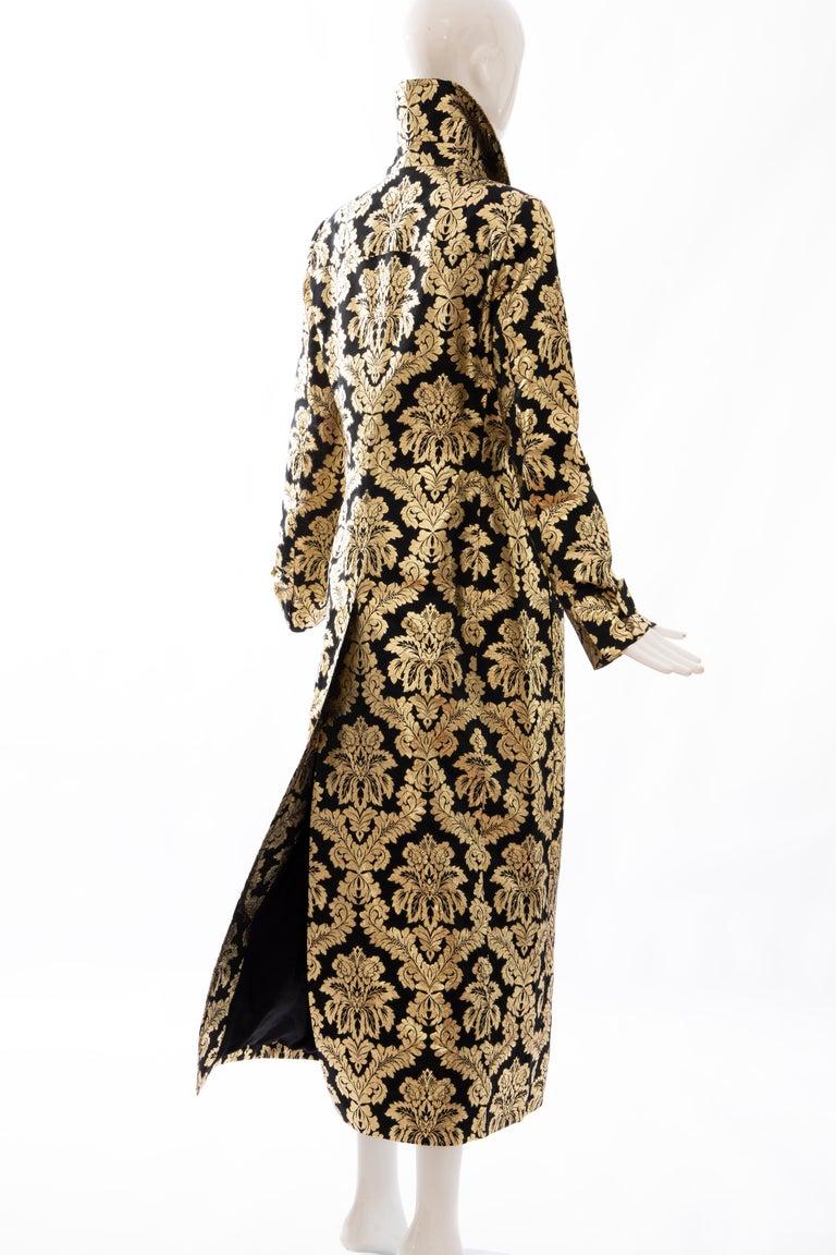 Dolce & Gabbana Runway Black Silk Gold Floral Brocade Evening Jacket, Fall 2000 2