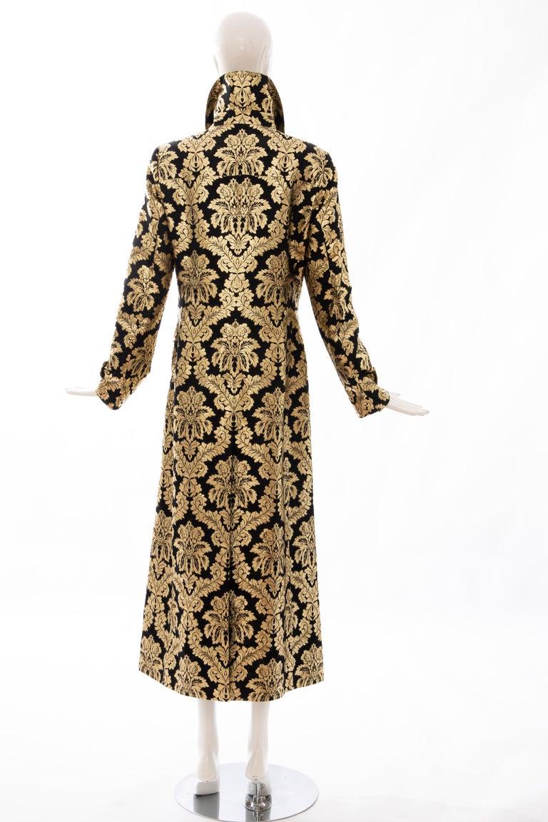 Dolce & Gabbana Runway Black Silk Gold Floral Brocade Evening Jacket, Fall 2000 3