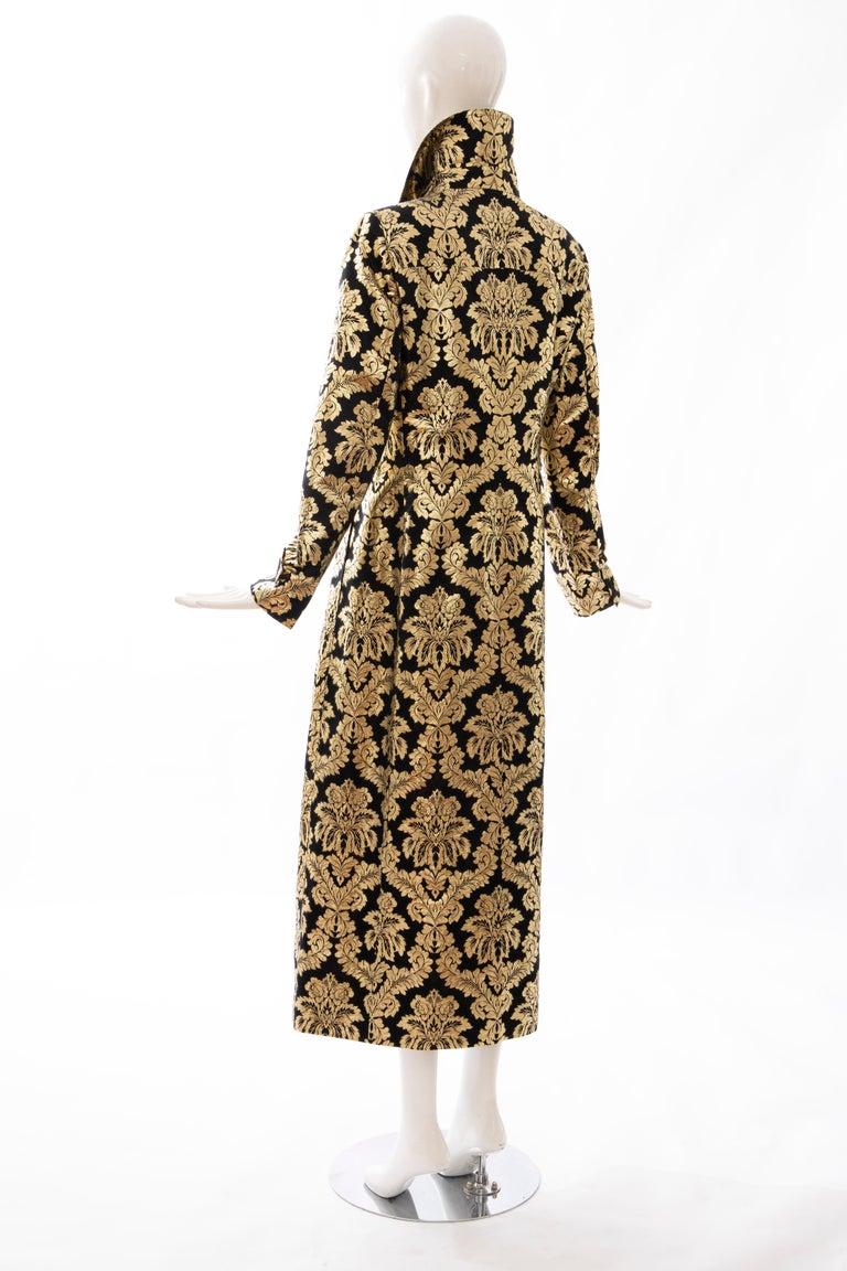 Dolce & Gabbana Runway Black Silk Gold Floral Brocade Evening Jacket, Fall 2000 4
