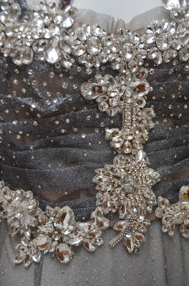 Dolce & Gabbana Runway Crystals Embellished Mermaid Dress  SZ38 Retailed $32,000 For Sale 6