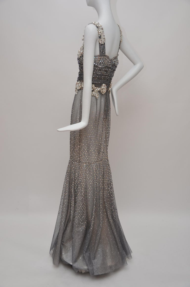 Women's or Men's Dolce & Gabbana Runway Crystals Embellished Mermaid Dress  SZ38 Retailed $32,000 For Sale