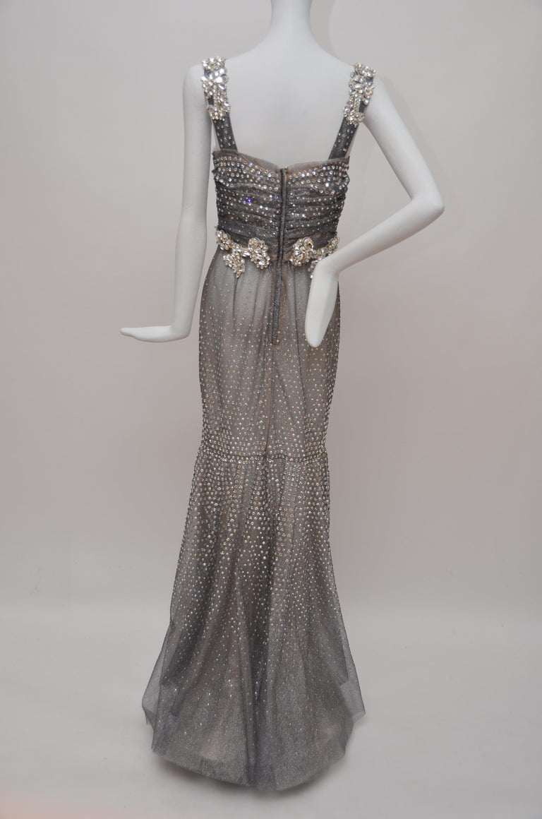 Dolce & Gabbana Runway Crystals Embellished Mermaid Dress  SZ38 Retailed $32,000 For Sale 1