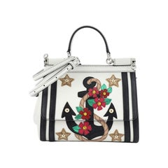 Dolce & Gabbana Sailor Miss Sicily Bag Patchwork Leather Small