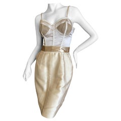 Dolce & Gabbana Sexy Vintage Golden Corset Cocktail Dress