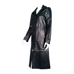 Dolce & Gabbana Sheepskin Zippered Trench Coat