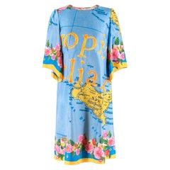 Dolce & Gabbana Sicily Map Print Dress M 44