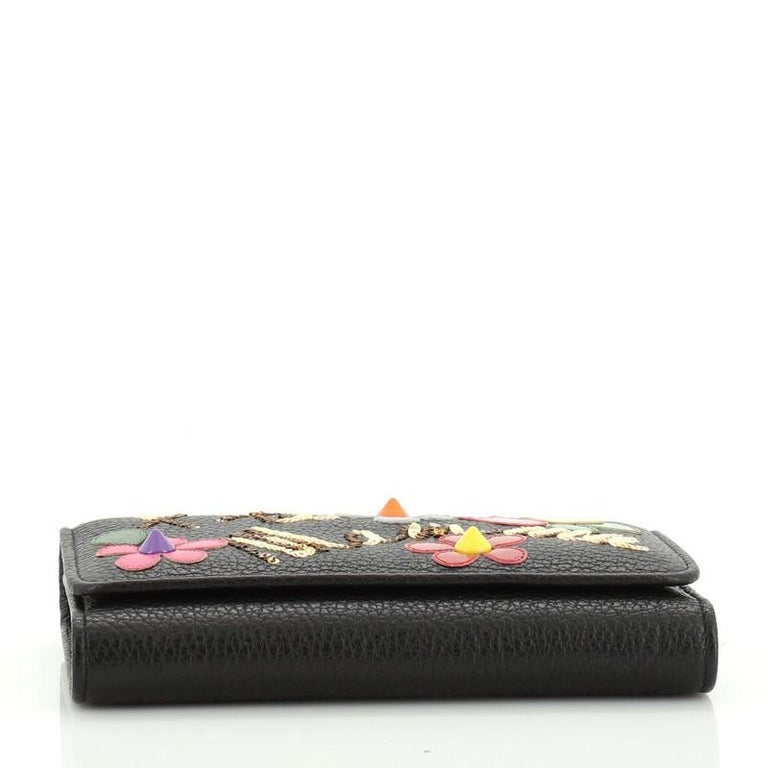 Women's or Men's Dolce & Gabbana Sicily Wallet on Chain Embellished Leather Mini