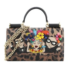 Dolce & Gabbana Sicily Wallet on Chain Printed Leather Mini