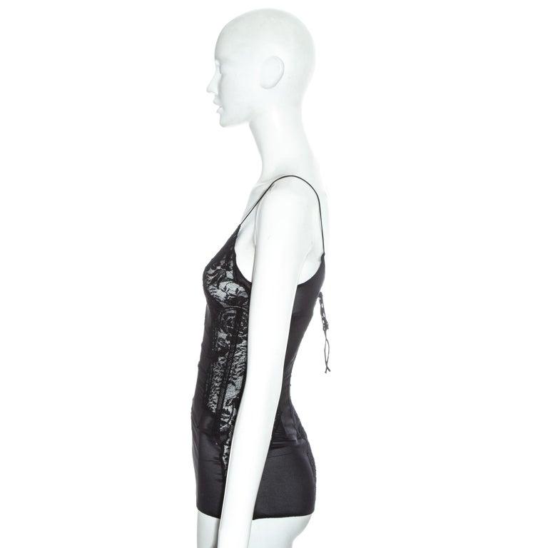 Women's Dolce & Gabbana silk and lace corset, ss 2002