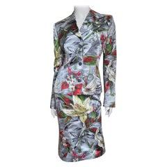 Dolce & Gabbana Silk Flower Suit