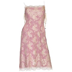Dolce & Gabbana Silk & Lace Corset Dress with Laceup Details