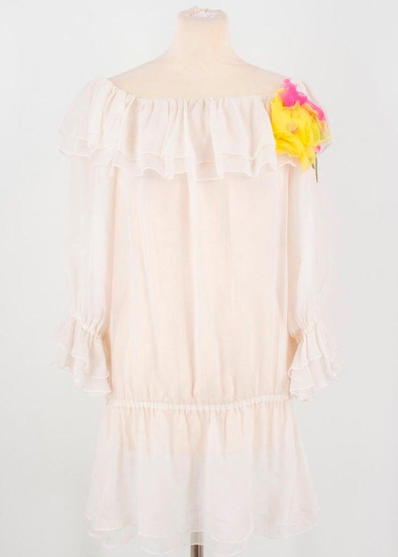 Dolce & Gabbana silk ruffle dress IT 40  For Sale 2