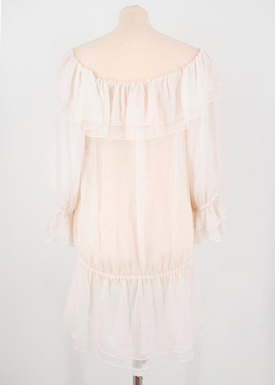 Dolce & Gabbana silk ruffle dress IT 40  For Sale 3