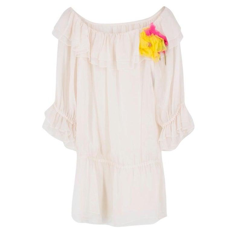 Dolce & Gabbana silk ruffle dress IT 40  For Sale 4