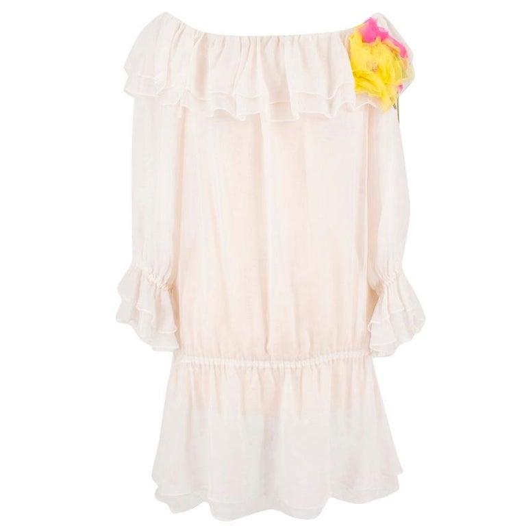 Dolce & Gabbana silk ruffle dress IT 40  For Sale