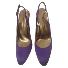 Dolce & Gabbana Silk satin purple Sandals