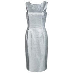 Dolce & Gabbana Silver Sleeveless Sheath Dress S