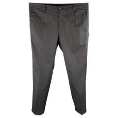 DOLCE & GABBANA Size 34 Black Wool Blend Zip Fly Dress Pants