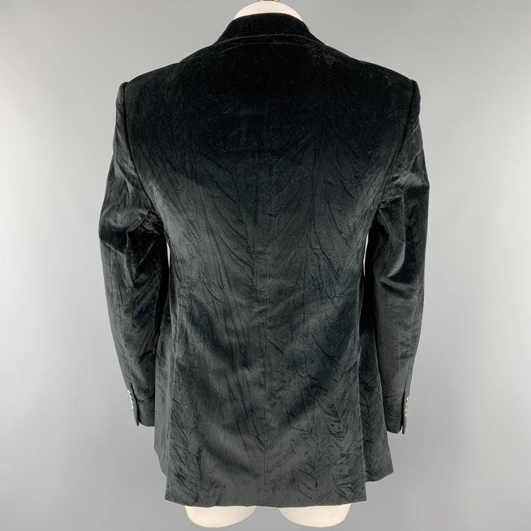 DOLCE & GABBANA Size 44 Regular Black Cotton Velvet Sport Coat In Good Condition For Sale In San Francisco, CA