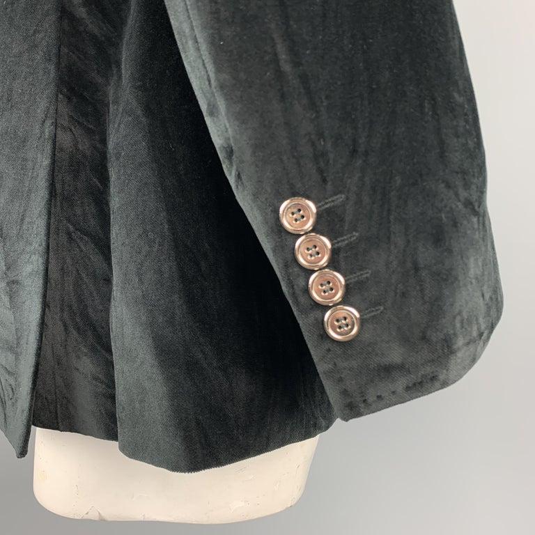 Men's DOLCE & GABBANA Size 44 Regular Black Cotton Velvet Sport Coat For Sale