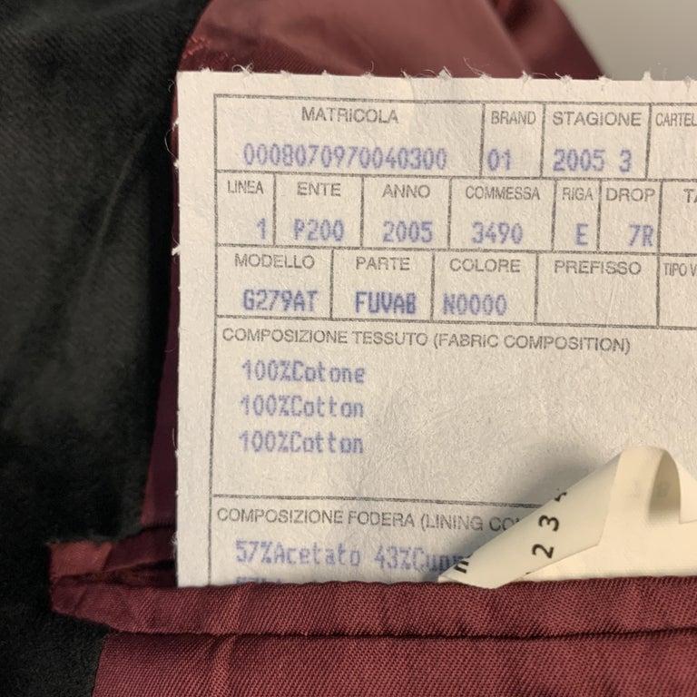 DOLCE & GABBANA Size 44 Regular Black Cotton Velvet Sport Coat For Sale 1