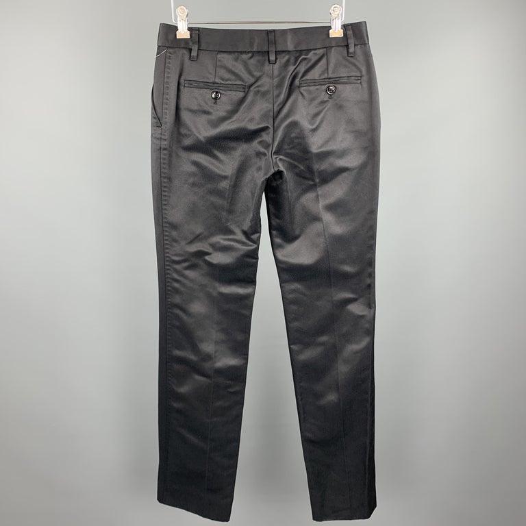 Women's DOLCE & GABBANA Size S Black Cotton / Silk Dress Pants For Sale