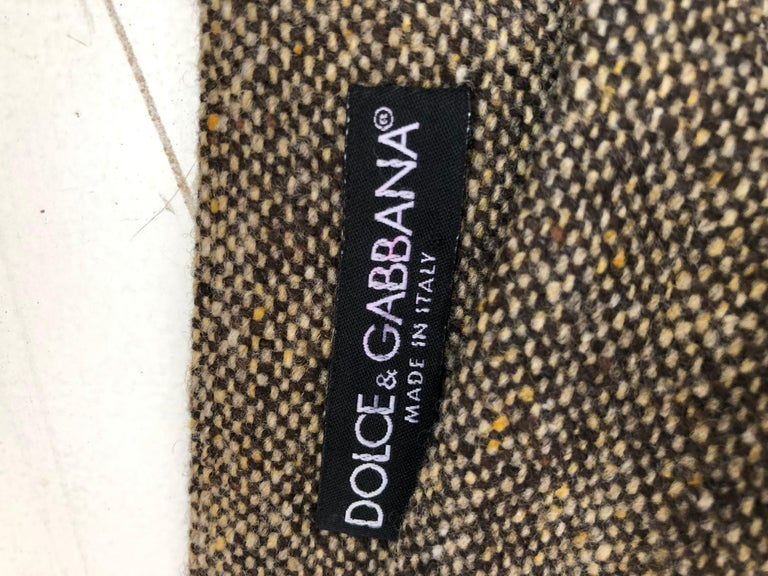 Dolce & Gabbana Skirt with Suede/Leather Appliques 48 (ITL) For Sale 1