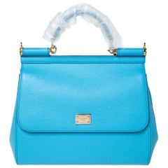 Dolce & Gabbana Sky Blue Leather Miss Sicily Bag