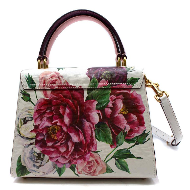 55072abf9ed Brown Dolce & Gabbana Small Welcome Floral Printed Bag For Sale