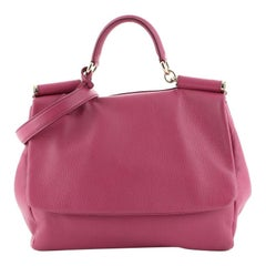 Dolce & Gabbana Soft Miss Sicily Bag Leather Medium