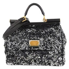 Dolce & Gabbana Soft Miss Sicily Bag Sequins Large