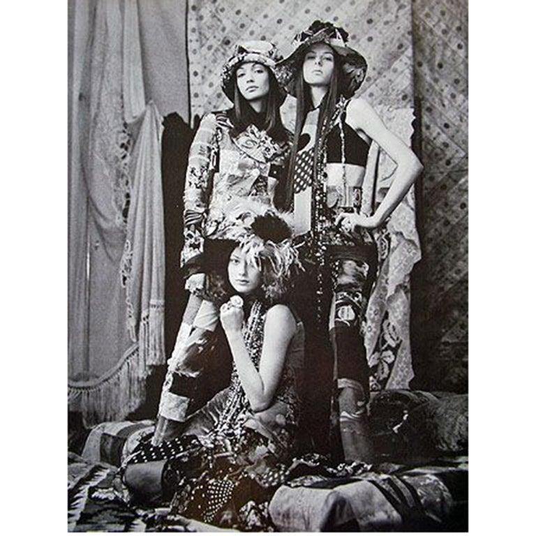 Dolce Gabbana Spring Summer 1993 Vintage Patchwork Silk 1970s Inspired Dress For Sale 7