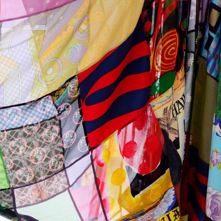 Dolce Gabbana Spring Summer 1993 Vintage Patchwork Silk 1970s Inspired Dress For Sale 3