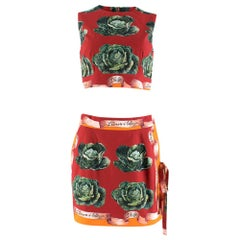 Dolce & Gabbana St.Cabbage Skirt & Top IT 44