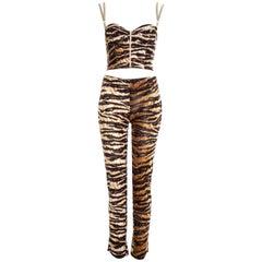 Dolce & Gabbana tiger print corset and pants set, ss 1996