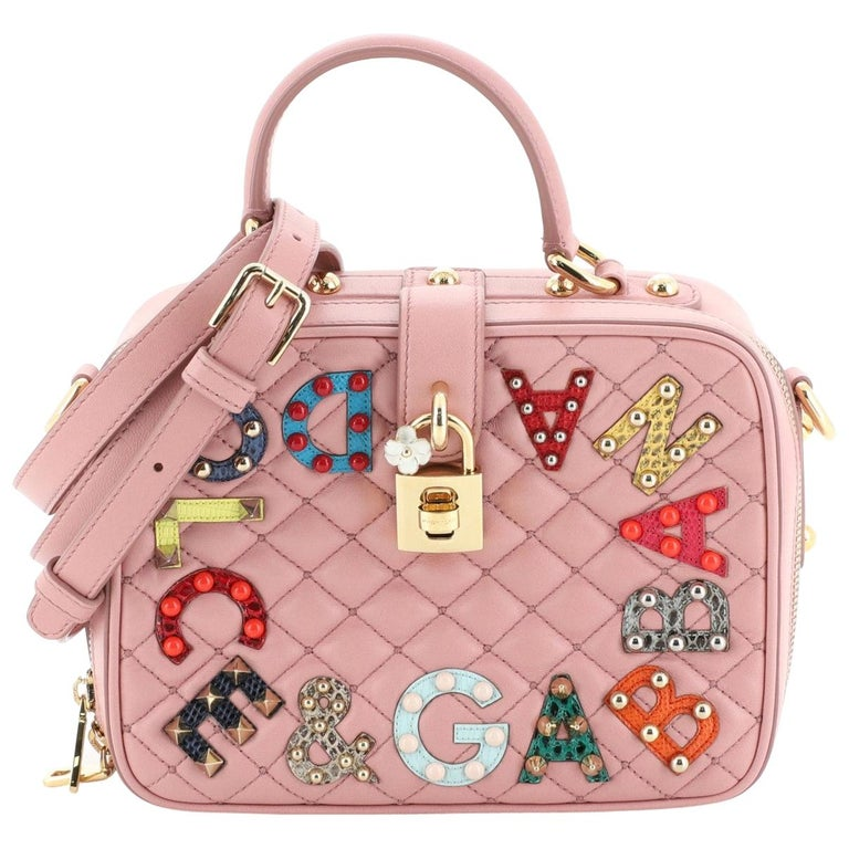 Dolce & Gabbana Treasure Box Bag Embellished Quilted Leather Small