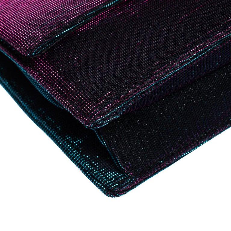 Dolce & Gabbana Tri Color Sparkle Fabric DG Girls Hashtag Logo Bag 5