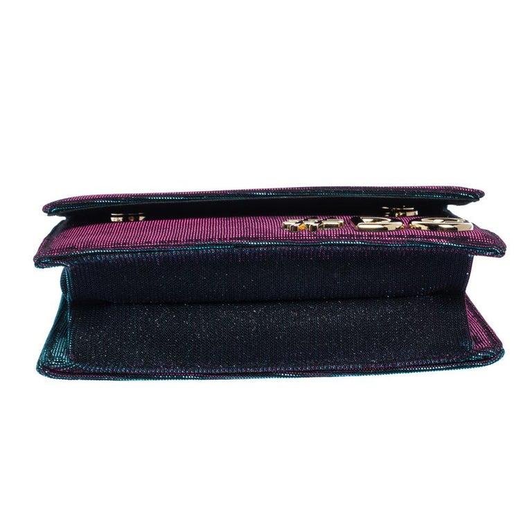 Women's Dolce & Gabbana Tri Color Sparkle Fabric DG Girls Hashtag Logo Bag