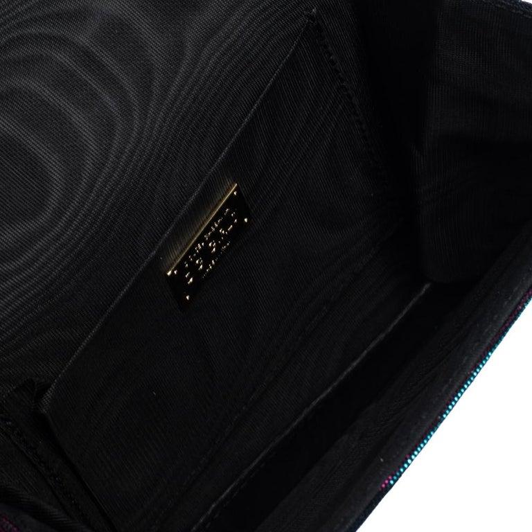 Dolce & Gabbana Tri Color Sparkle Fabric DG Girls Hashtag Logo Bag 2