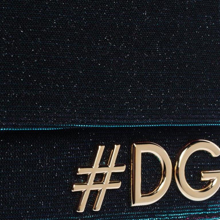 Dolce & Gabbana Tri Color Sparkle Fabric DG Girls Hashtag Logo Bag 3