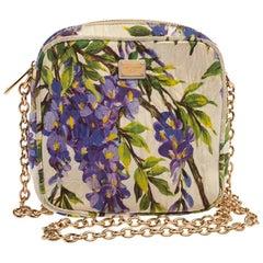 Dolce & Gabbana Tricolor Floral Print Fabric Miss Glam Chain Shoulder Bag